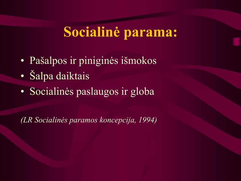 Socialinė parama: