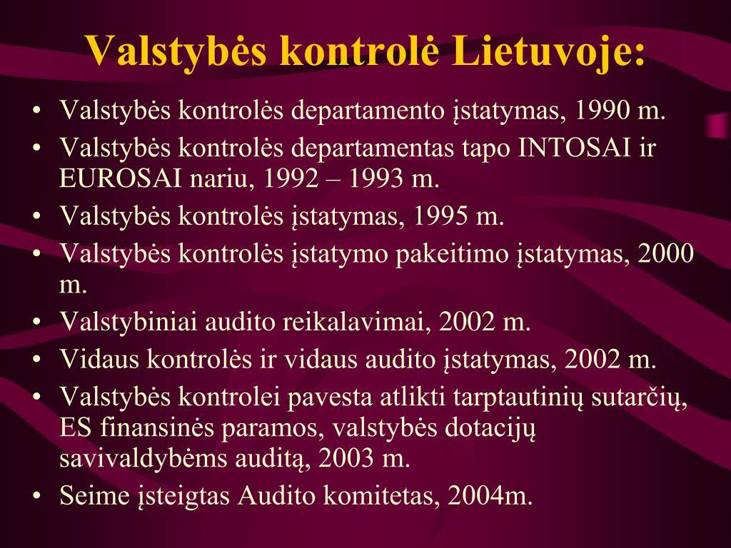Valstybės kontrolė Lietuvoje: