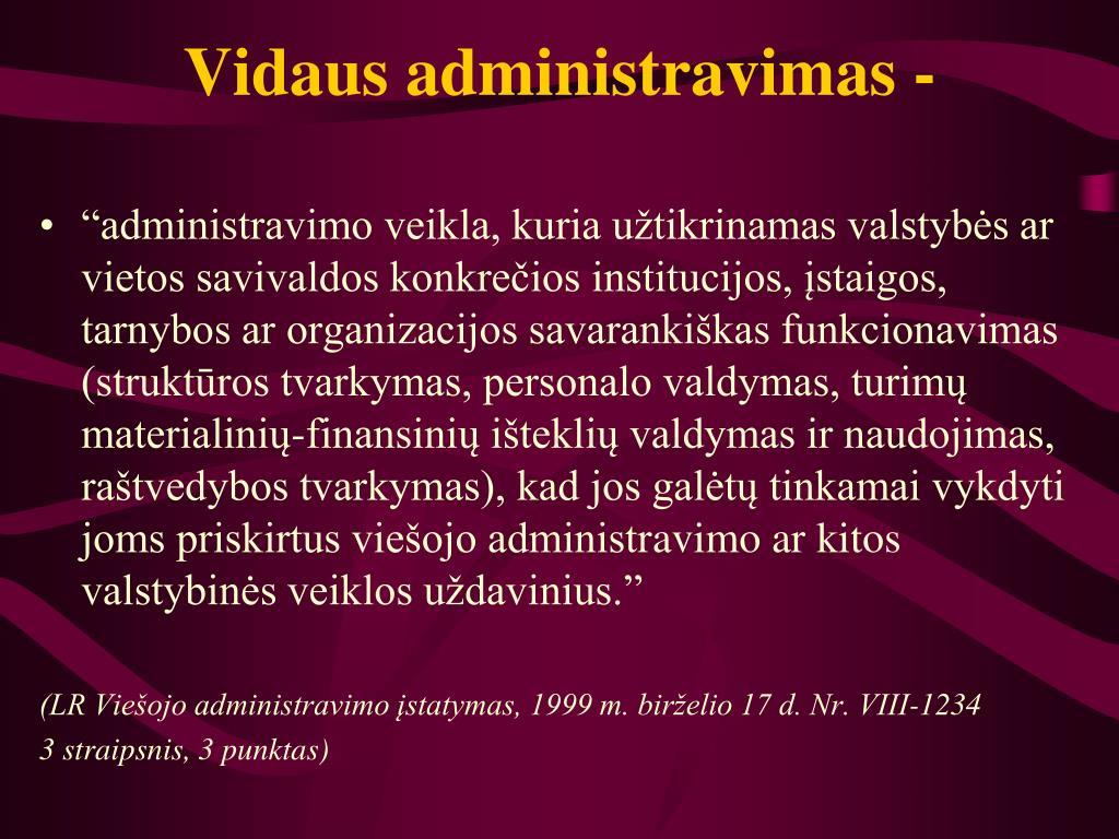 Vidaus administravimas -