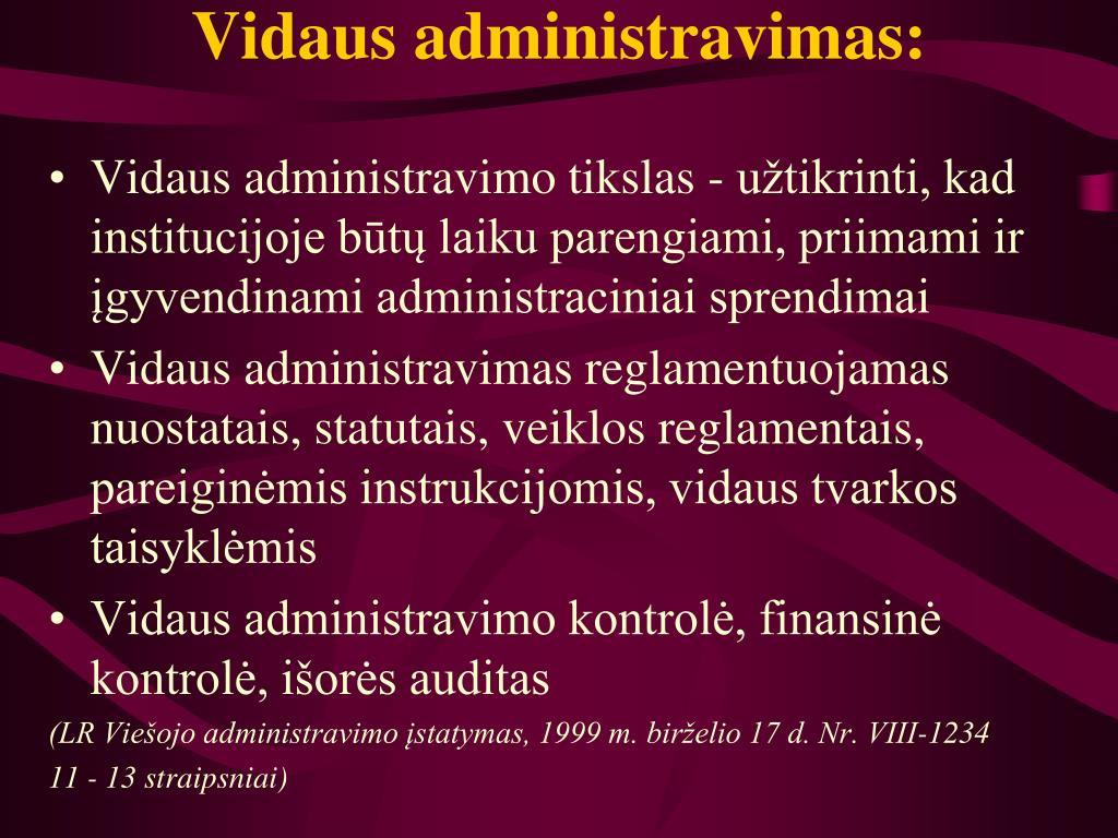 Vidaus administravimas: