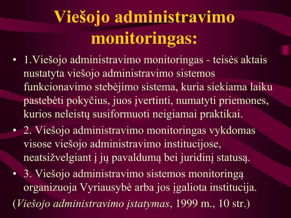 Viešojo administravimo monitoringas: