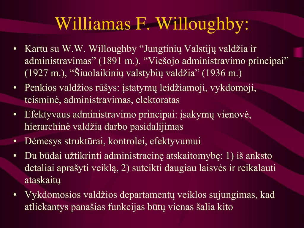 Williamas F. Willoughby: