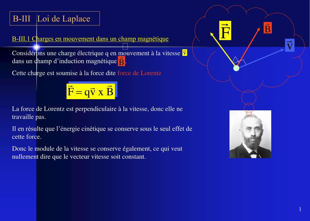 B-III   Loi de Laplace