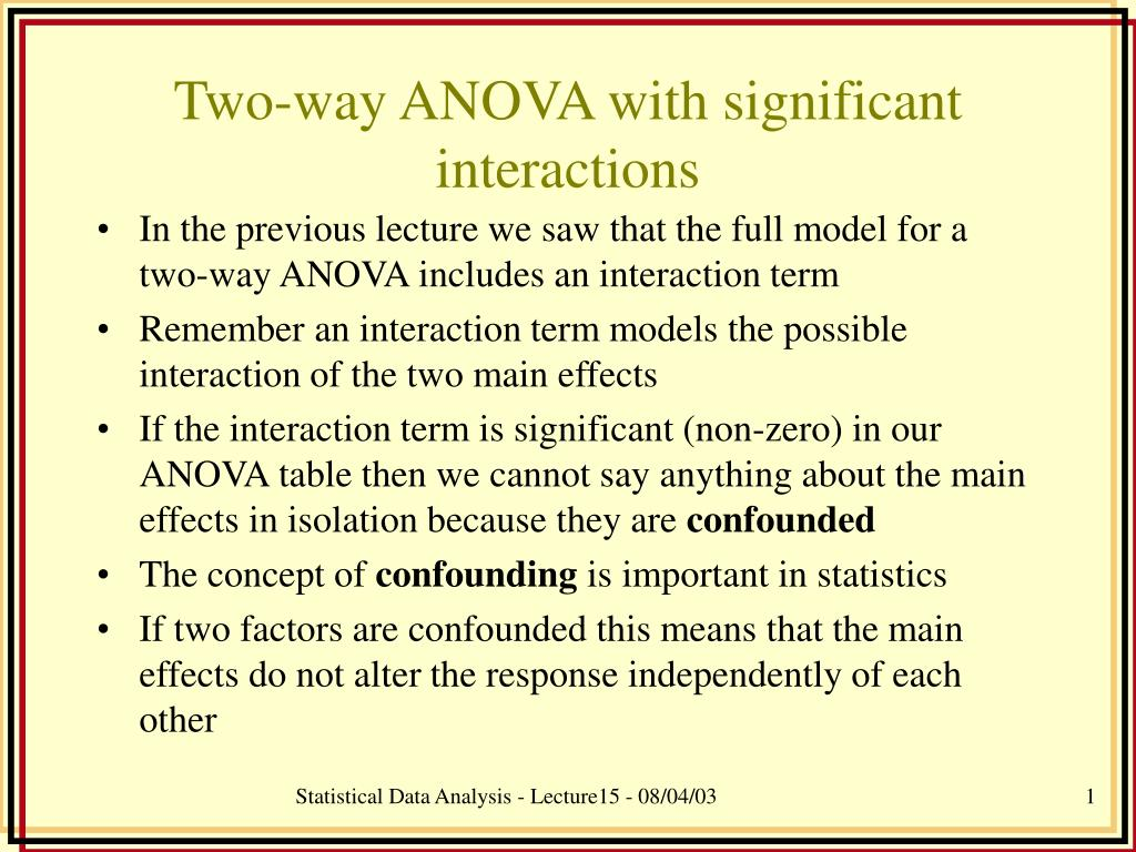 two way anova with significant interactions