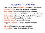 gaa security context