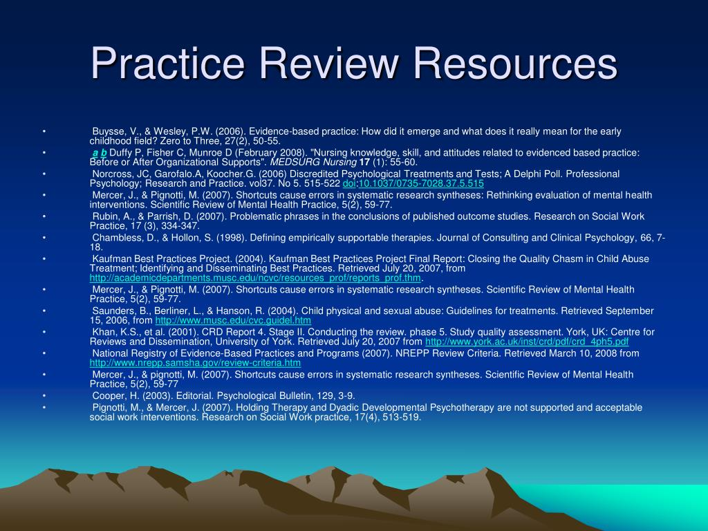 Practice Review Resources