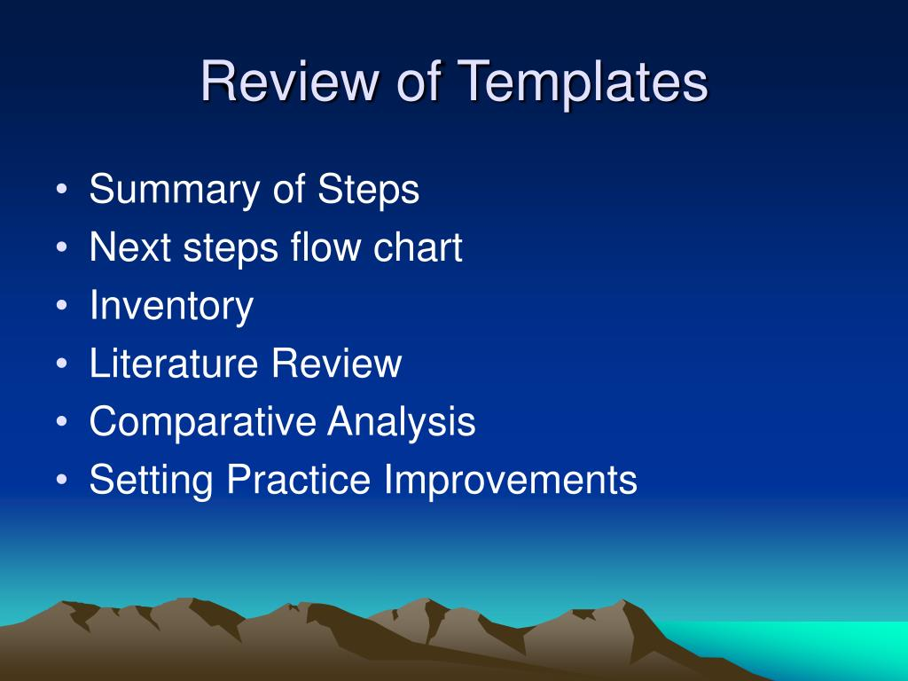 Review of Templates