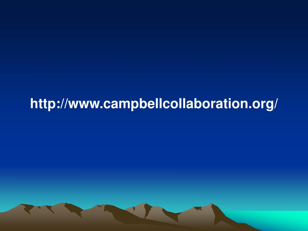 http://www.campbellcollaboration.org/