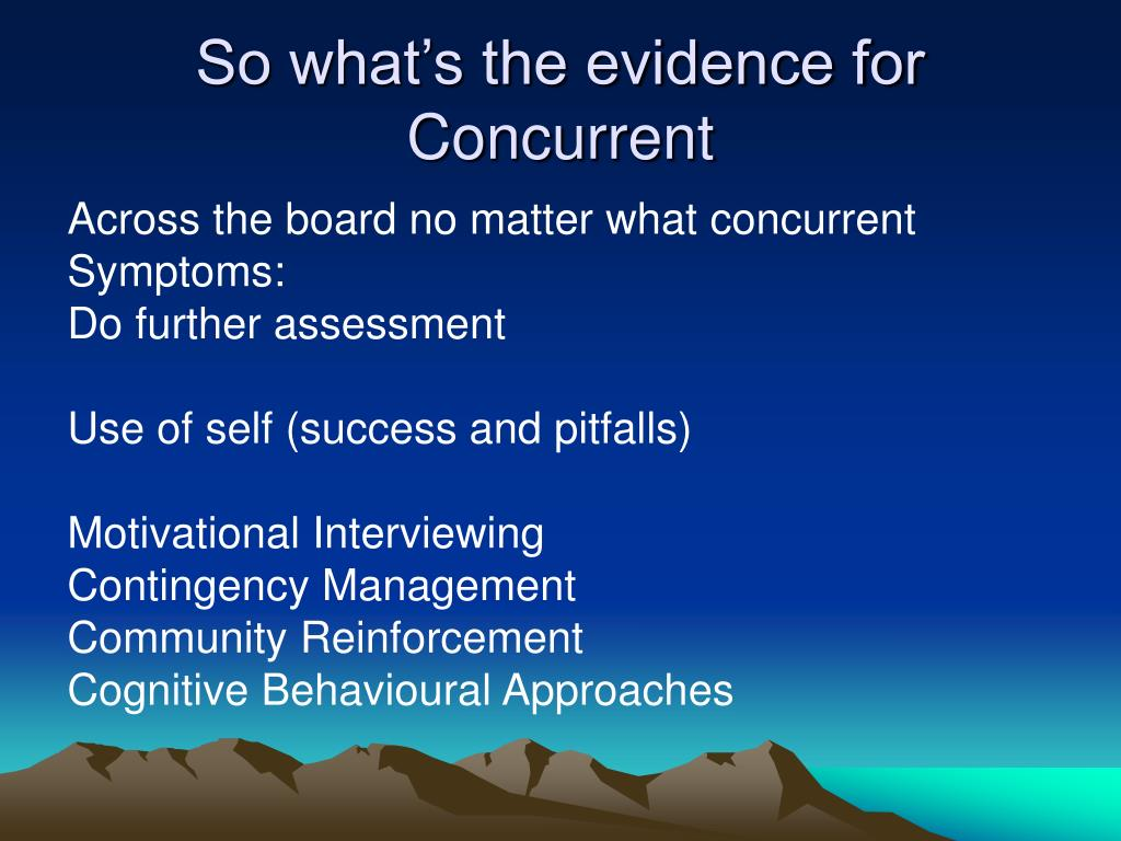 So what's the evidence for Concurrent