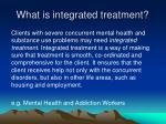 what is integrated treatment