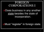 foreign corporations i
