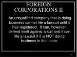 foreign corporations ii