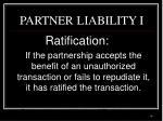 partner liability i
