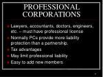 professional corporations