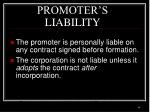 promoter s liability