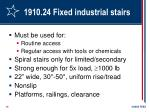 1910 24 fixed industrial stairs
