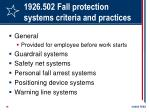 1926 502 fall protection systems criteria and practices