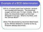 example of a bod determination