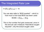 the integrated rate law31