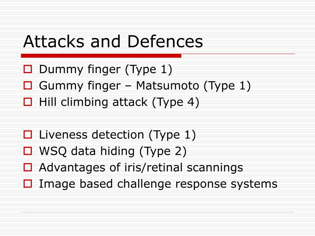 Attacks and Defences
