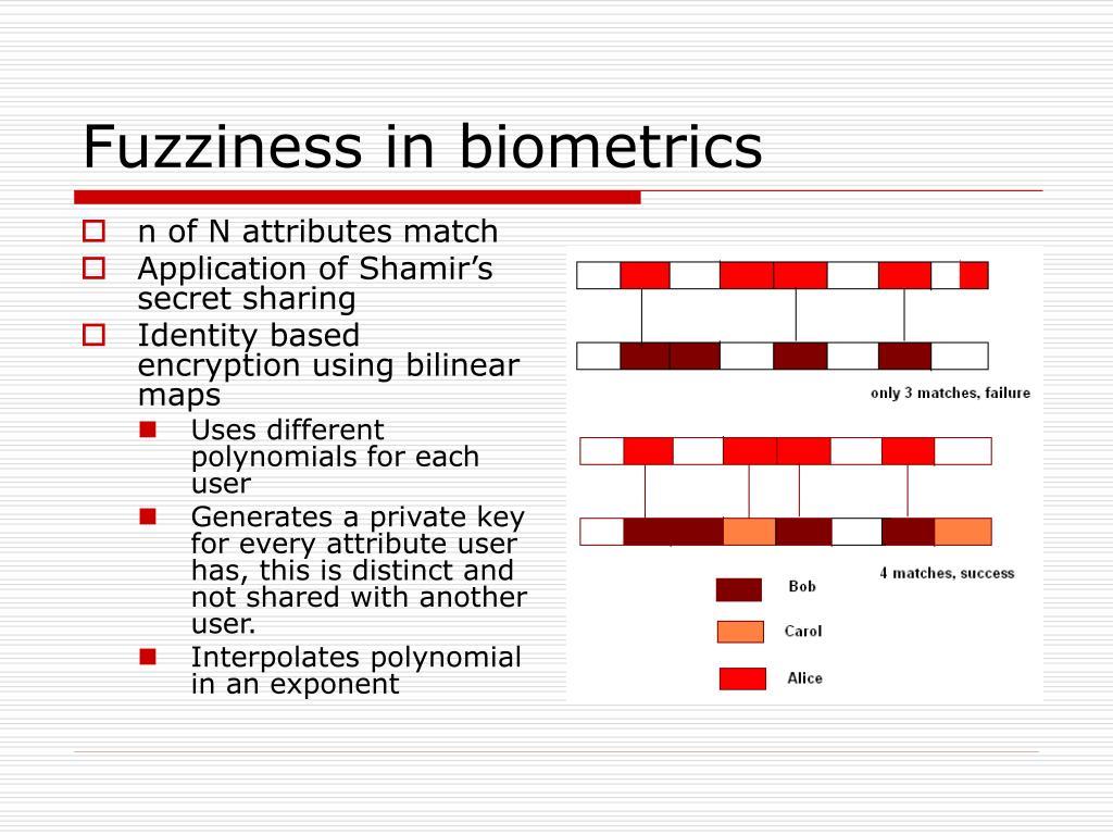 Fuzziness in biometrics