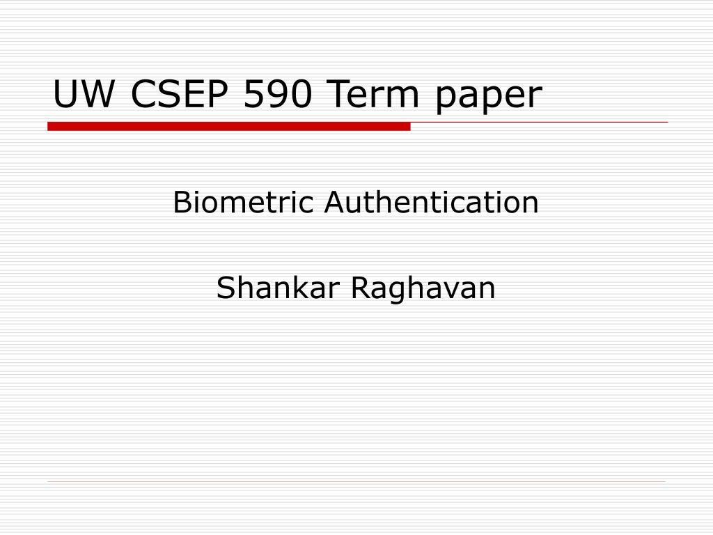UW CSEP 590 Term paper