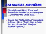 statistical software12