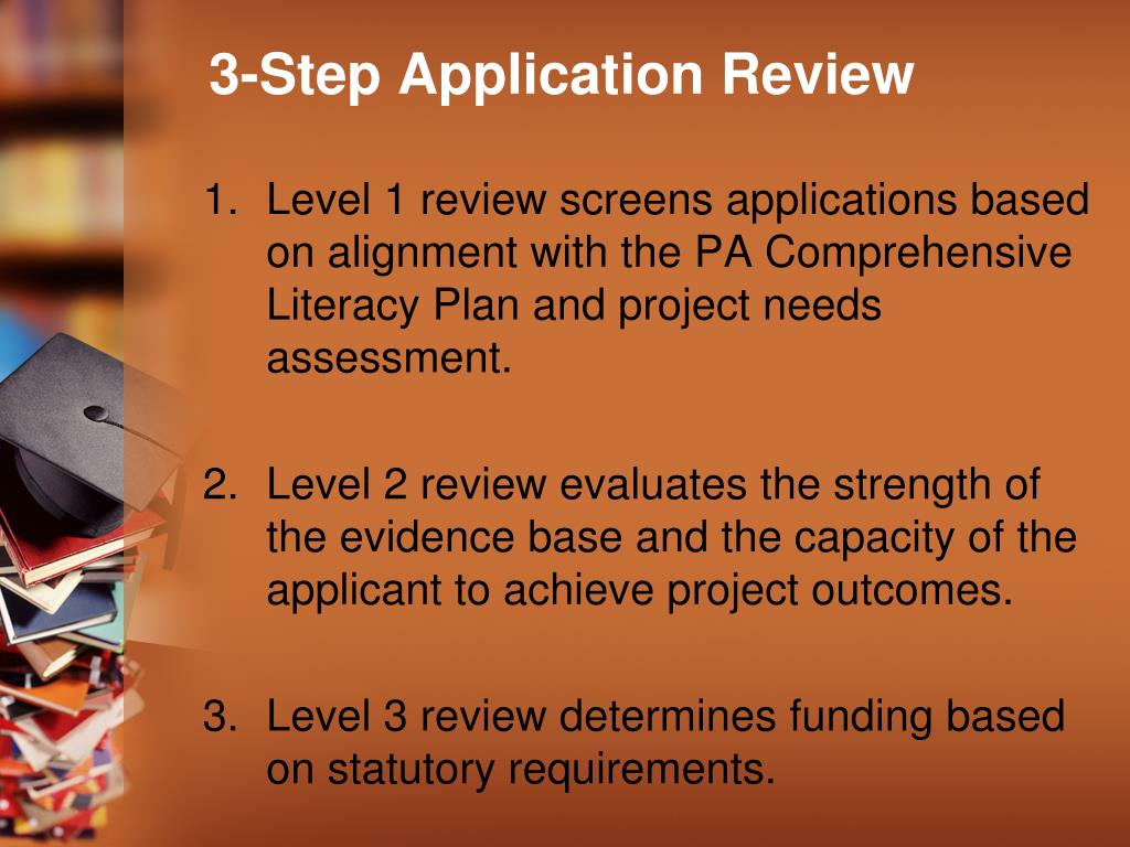3-Step Application Review
