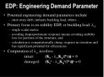 edp engineering demand parameter