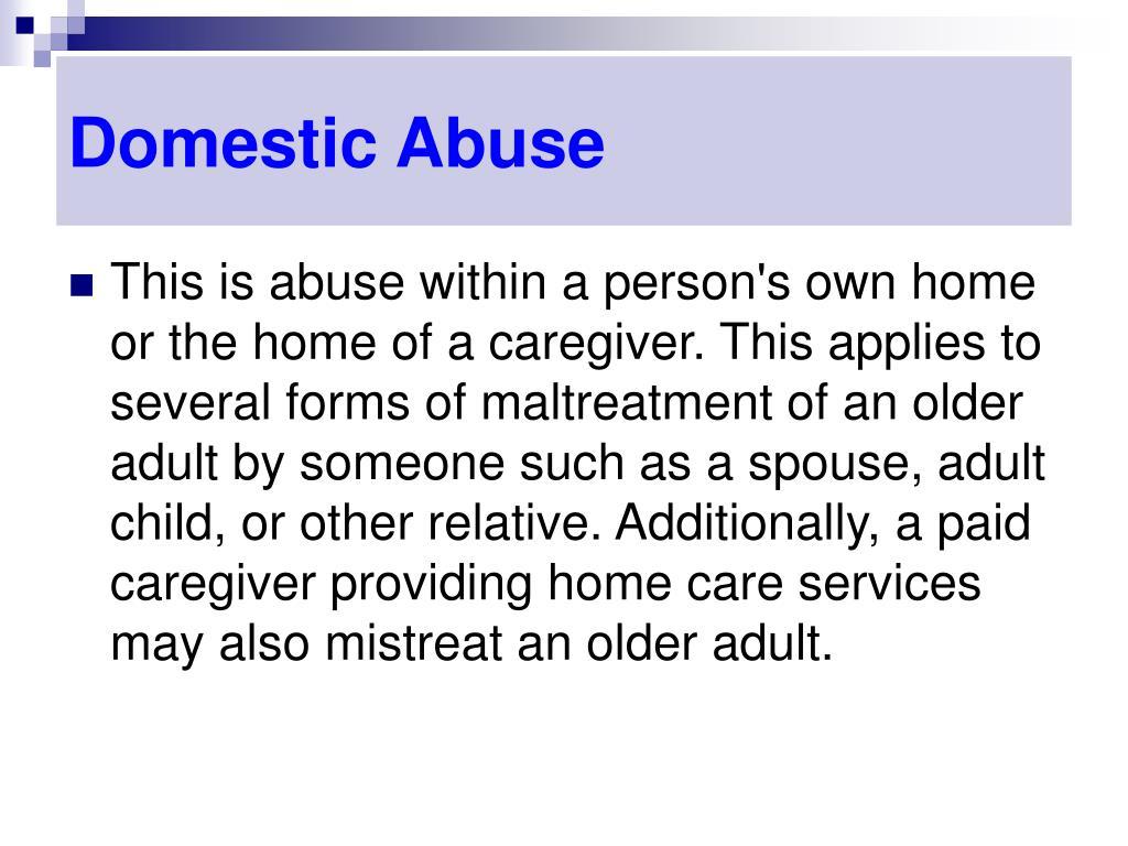 Domestic Abuse