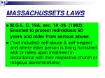 massachussets laws