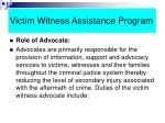 victim witness assistance program49