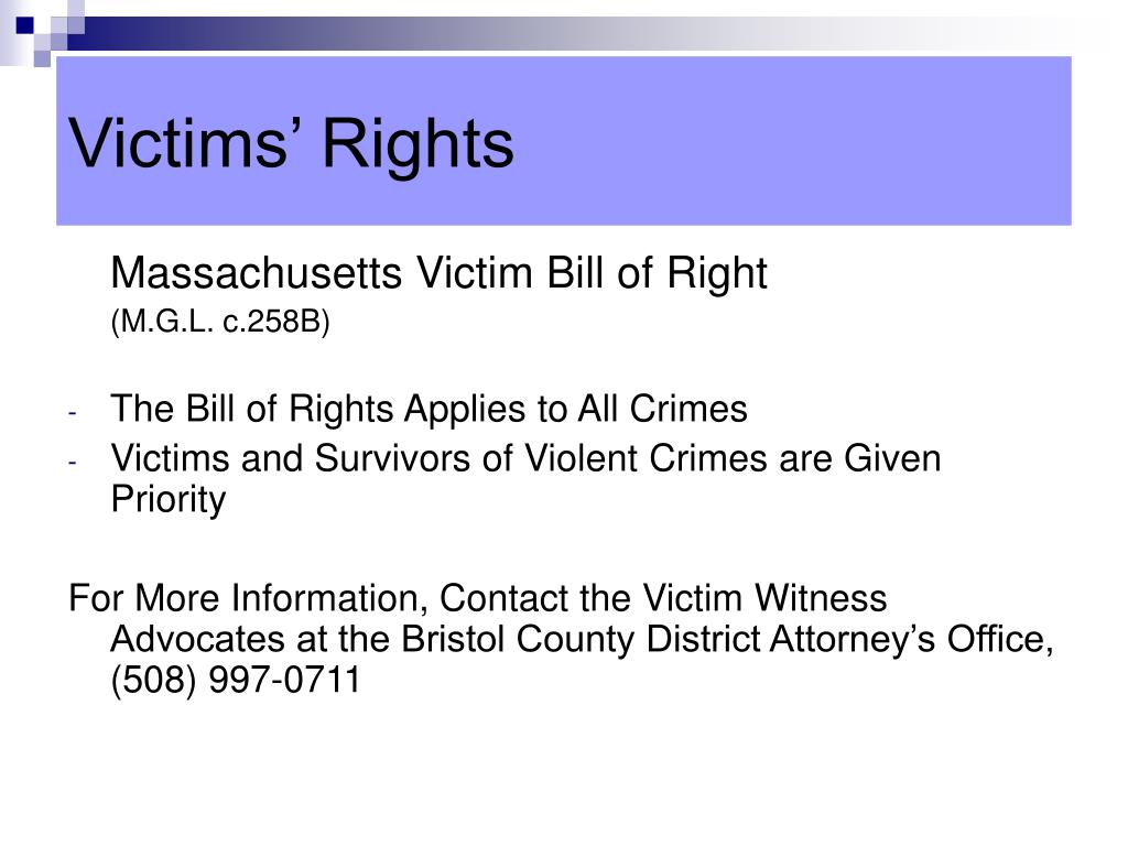 Victims' Rights
