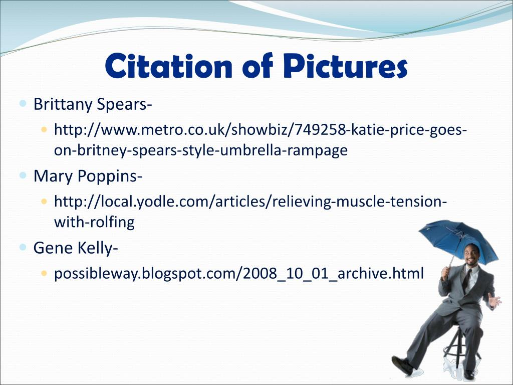 Citation of Pictures