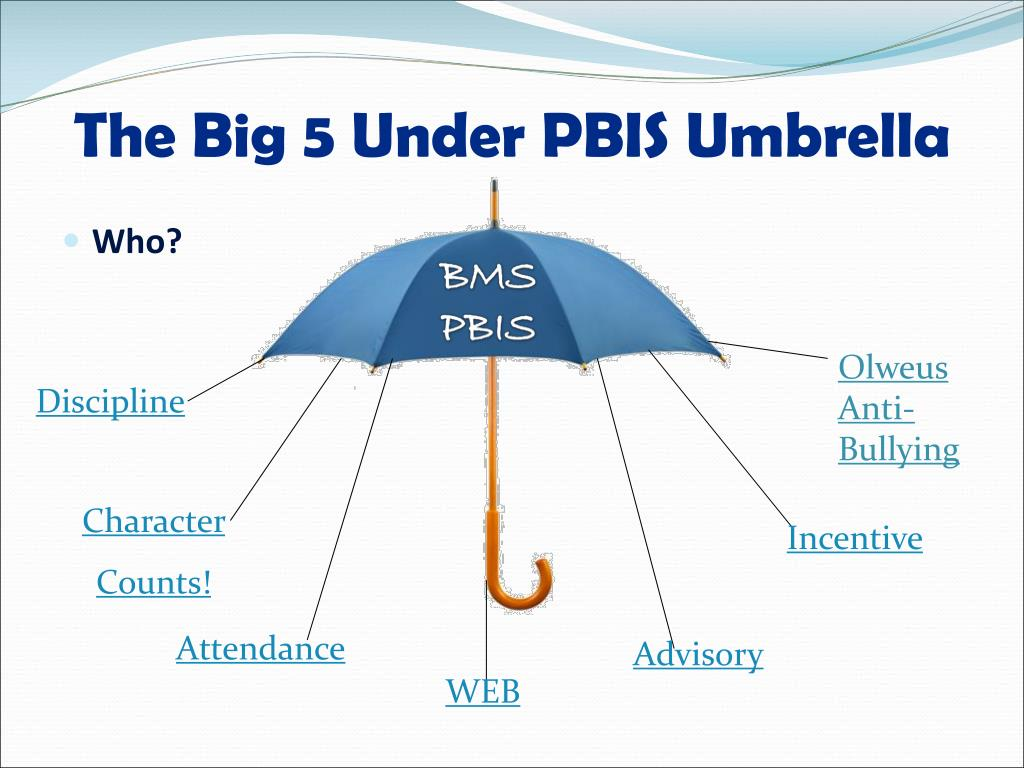 The Big 5 Under PBIS Umbrella