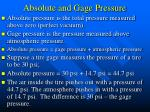 absolute and gage pressure