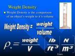 weight density