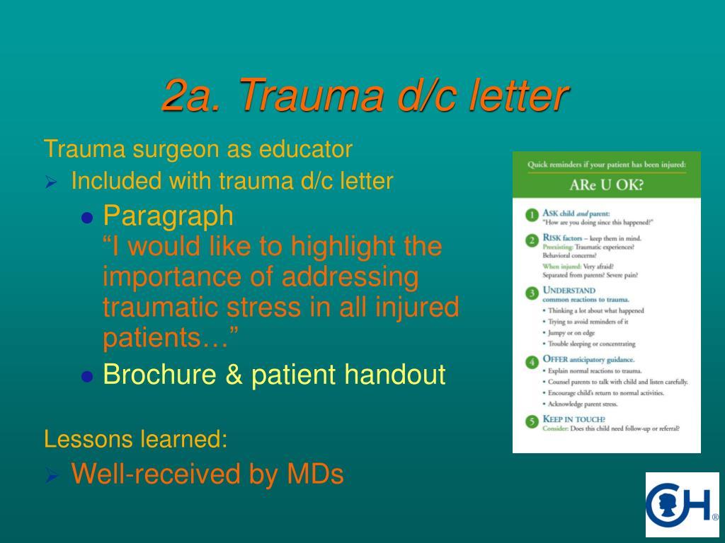 2a. Trauma d/c letter