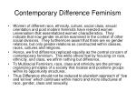contemporary difference feminism