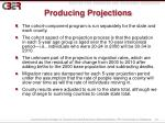 producing projections
