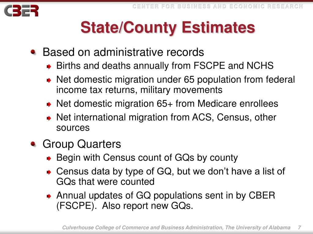 State/County Estimates