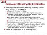 subcounty housing unit estimates