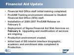 financial aid update