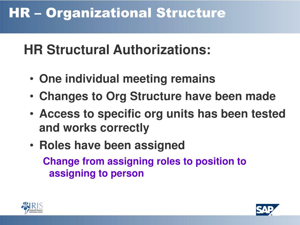 HR – Organizational Structure