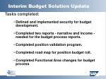 interim budget solution update23