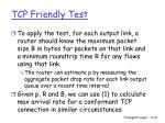 tcp friendly test