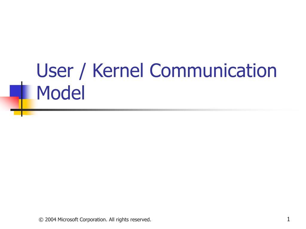 User / Kernel Communication Model