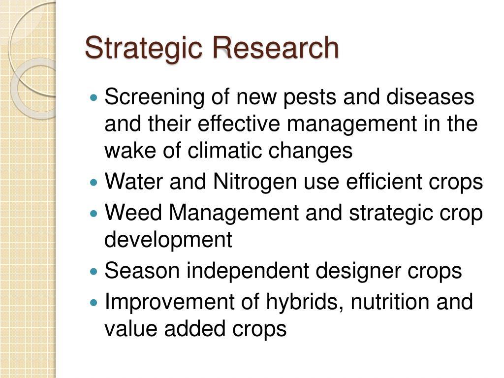 Strategic Research