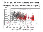 some people have already done that using automatic detection of sunspots