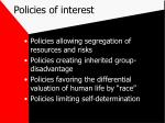 policies of interest